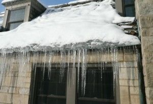 Ice and Icicles on roof