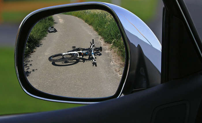 Bike accident mirror