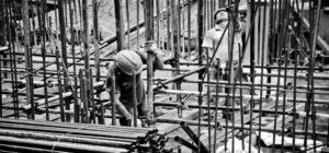 construction workers building subway