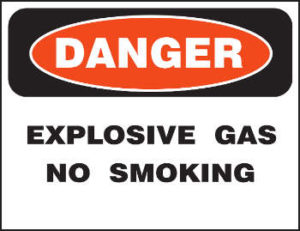 Danger explosive gas