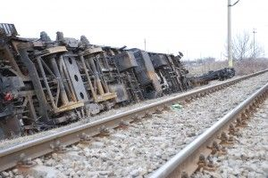 Train accident derailed