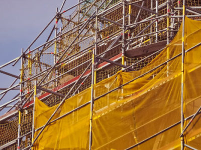 section of scaffolding