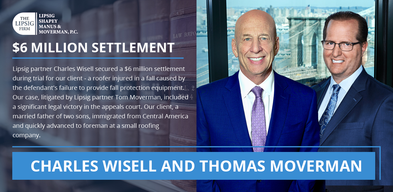 Charles Wisell and Thomas Moverman Injury attorney NYC